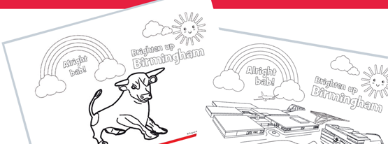 Image for Brighten up Birmingham colouring sheets